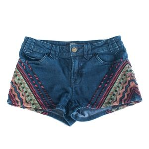 BDG Urban Outfitters Embroidered Boho Denim Shorts